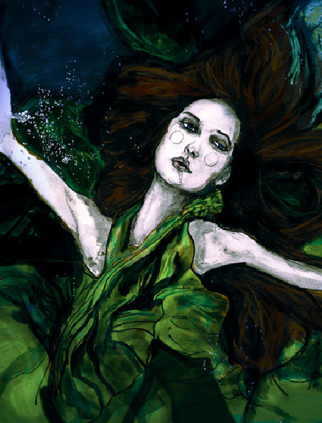 This is a Painting Danny Roberts did of Stacy Dupree as a Siren
