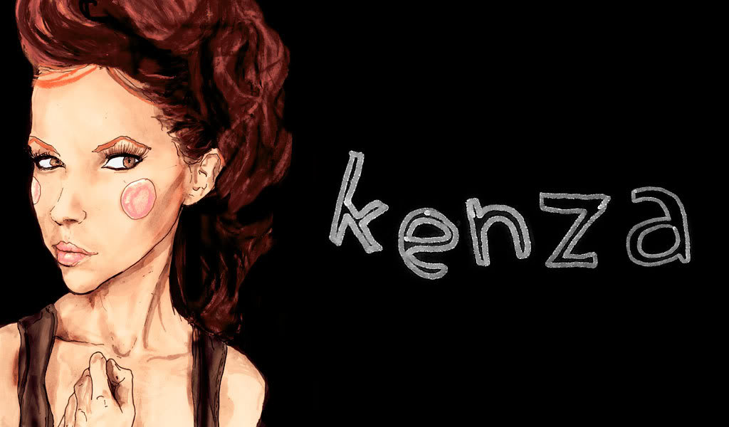 This is a Drawing artist danny roberts did of swedish blogger Kenza