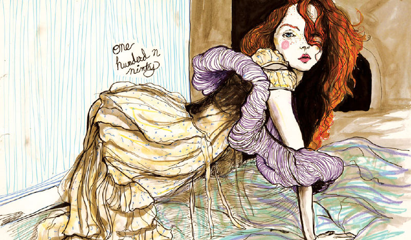 This Drawing is from Danny Roberts Lily cole and gemma ward sketchbook