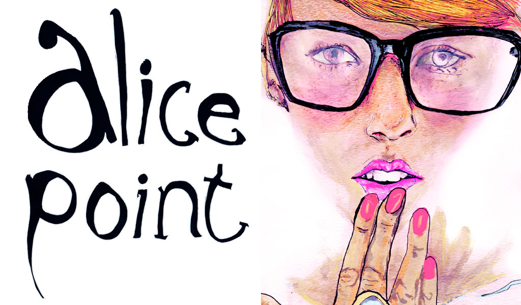 Danny roberts illustrated portrait of the Polish blogger Alice of Alice Point