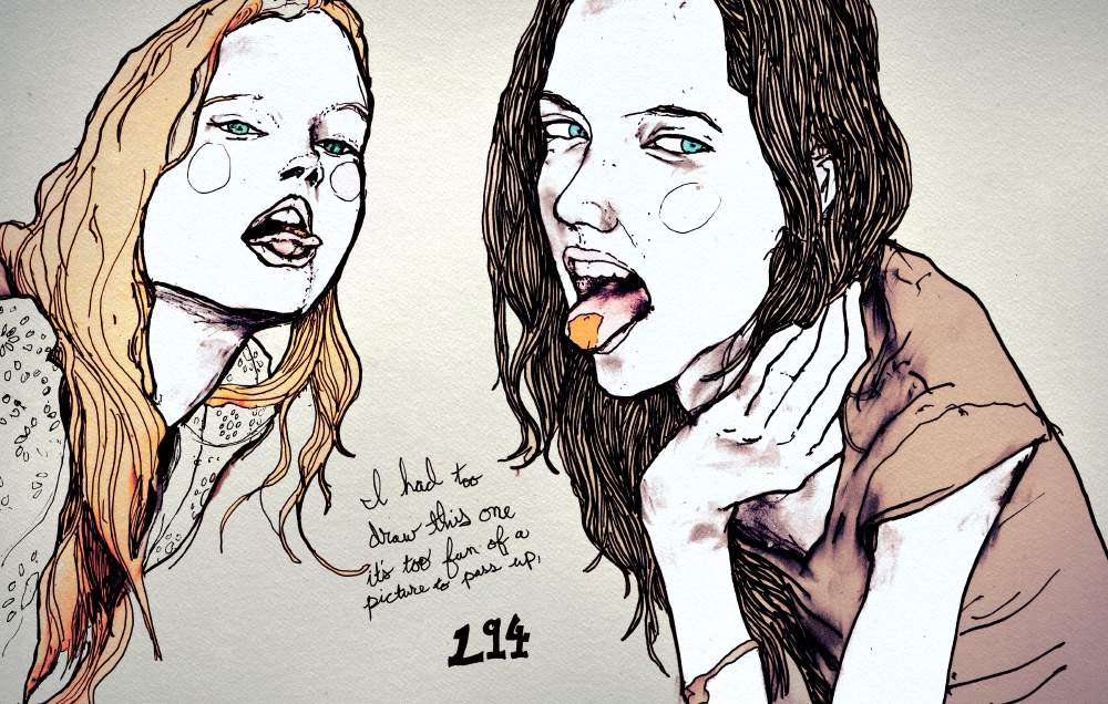 Danny Roberts drawing of Sisters Sophie Ward and Gemma Ward out of his Character Sketchbook