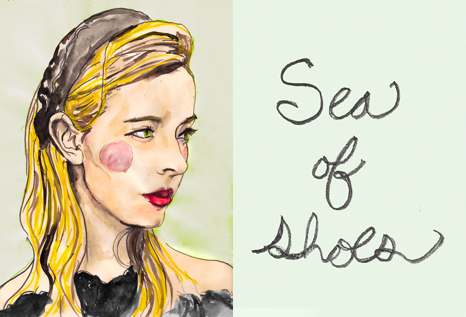 This Blogger Portrait is the founder of Sea of shoes blog Jane, The portrait is by Danny Roberts