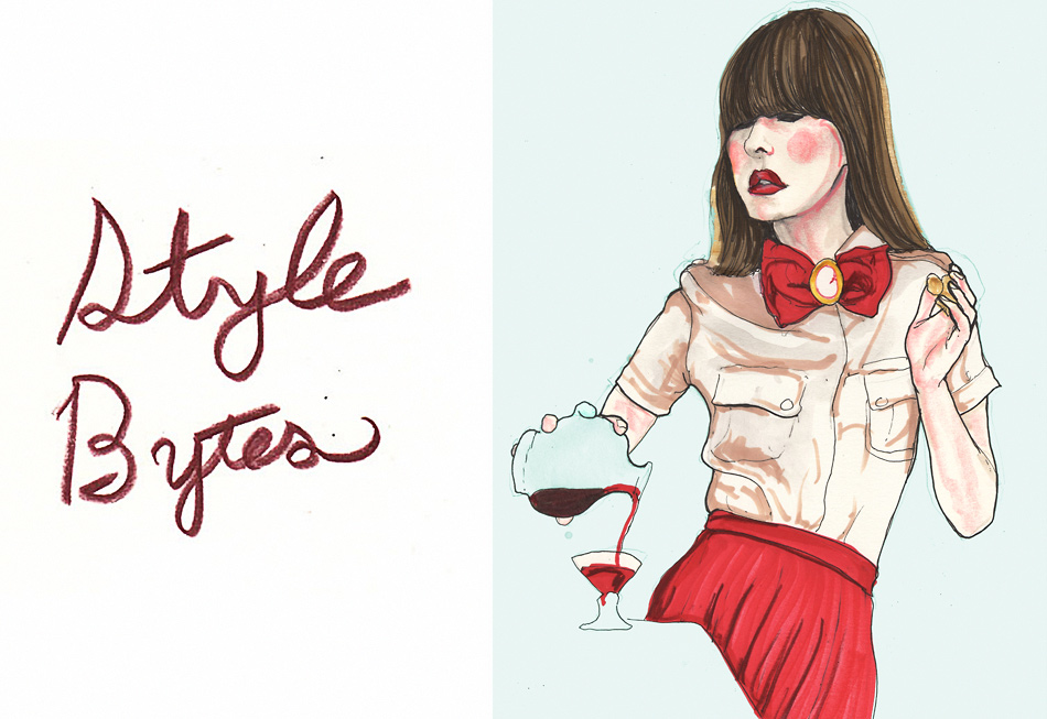 This Danny Roberts Drawing of Fashion Blogger Style Bytes