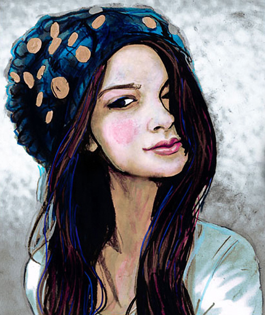 Danny Roberts portrait of Fashion blogger Cat Khan of KnightCat