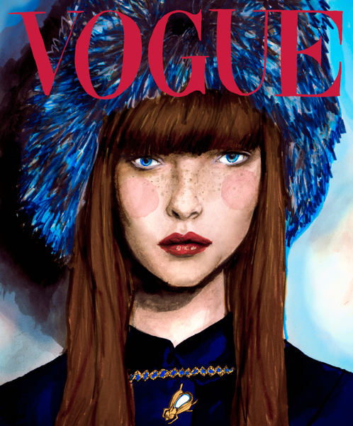 Danny Roberts Reinterpreted vogue Russia cover of trump model Polina Kouklina