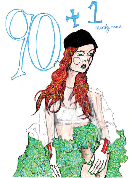 Lily cole sketch sitting down, this is the 91 drawing by artist danny roberts