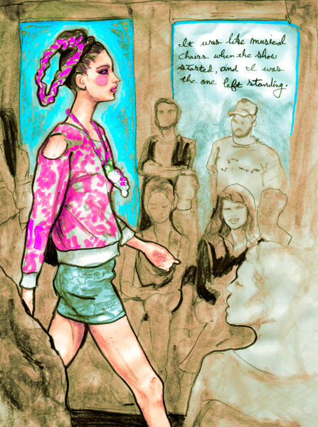 Artist Danny Roberts documentary Sketch during Gerlan Jeans collection spring 2010