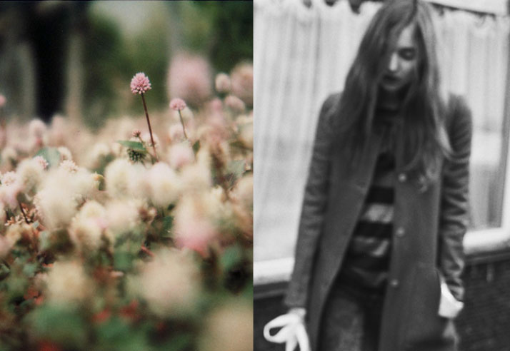 Inspiration Friday picture of flowers and a girl black and white picture of a girl