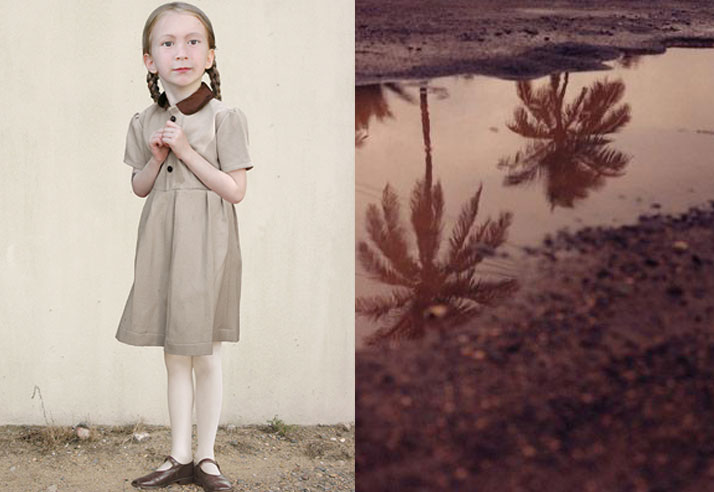 Cute girl in a sunday dress and pig tails Inspiration Friday image