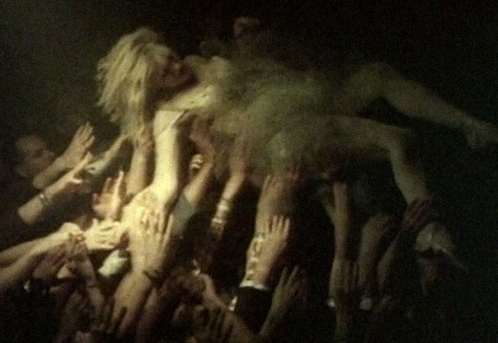 a ghostly  Inspiration friday of a girl crowd surfing