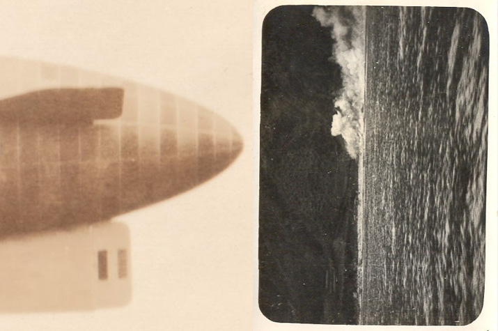 old inspiration friday image of a blimp exploding