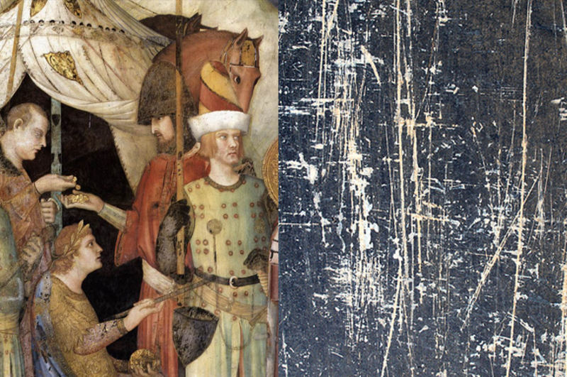 Saint Martin Renounces His Weapons painting by Simone Martini