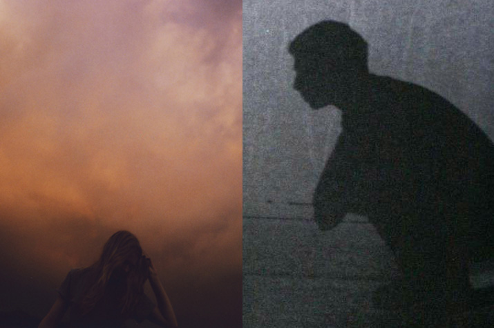 Inspirational images Lina Scheynius of a girl hair blowing in the sunset  and a boys dark silhouette
