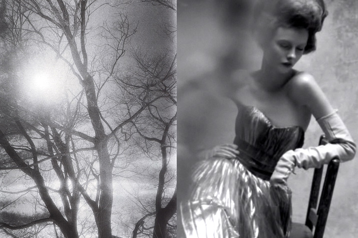 Steven Meisel Black and white photo from vogue Italy march 08 and an old tree