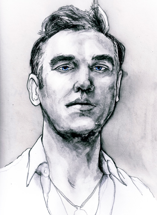 Danny Roberts Art Painting portrait of Steven Patrick Morrissey of the band the smiths in the musician portrait series