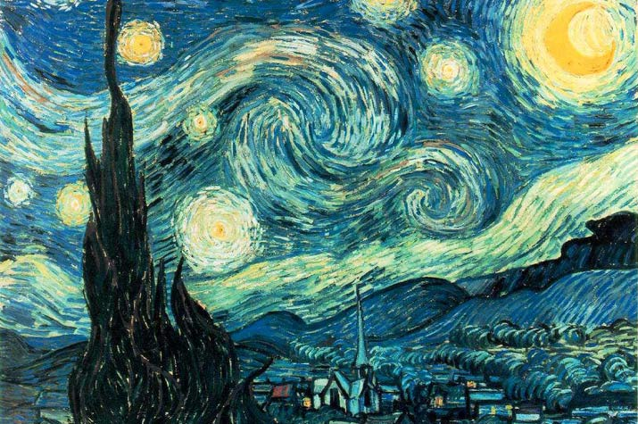 Vincent Van Gough painting The Starry Night Saint Remy""