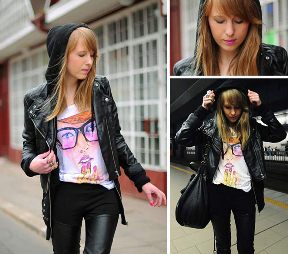 Alicepoint wearing her Tee from Forever21 collaboration with Danny Roberts