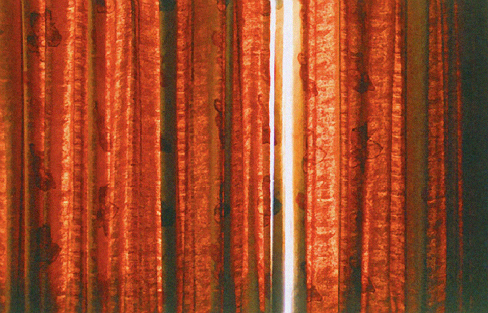 swedish Photographer Lina Scheynius Diary Photo of Red Hotel room Curtains