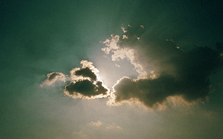 Inspiration Friday photo of a greenish clouds in the sky by from swedish photographer Lina scheynius