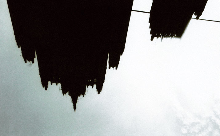 Picture of the top of building upside down of by swedish photographer Lina Scheynius