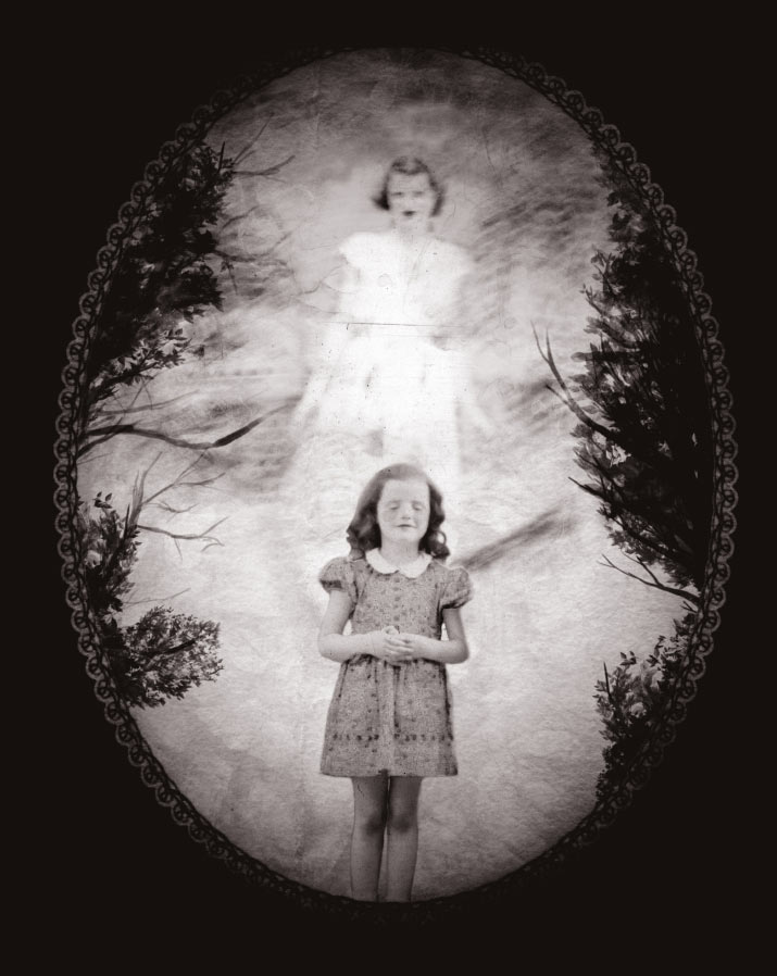A collage image from Fashion Artist Danny Roberts for his issue of Whats Contemporary Photo is of Danny Aunt Gina As a kid in 1940