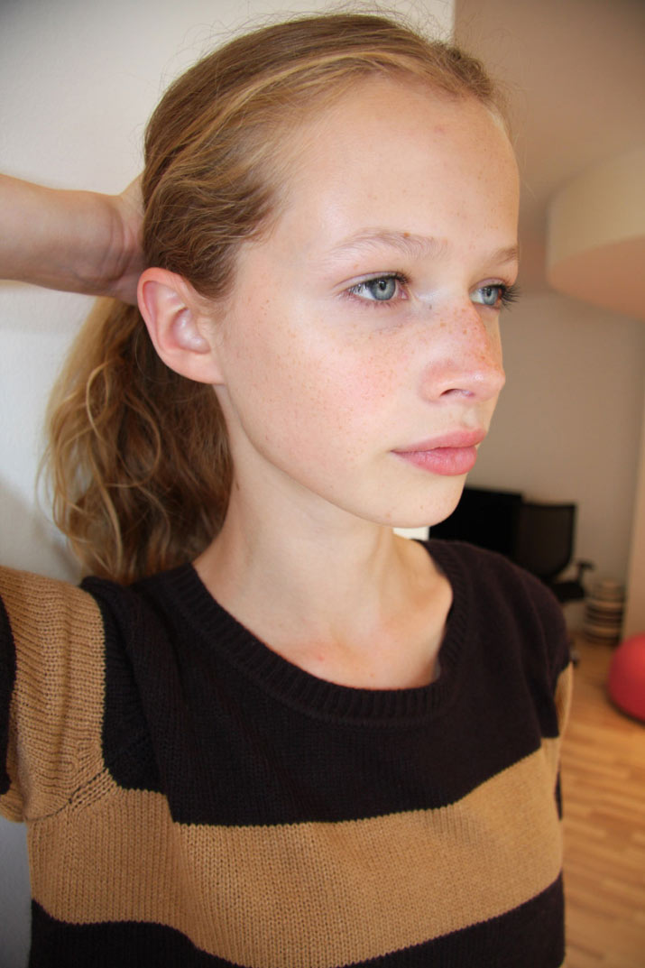 a Polaroid of IMG Models Developement new face model from Denmark Anna Lund Sorensen