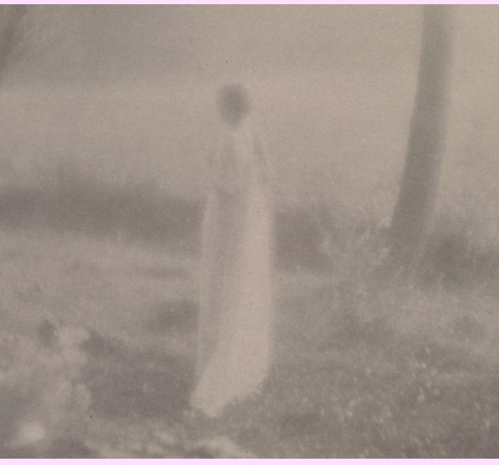 Old Inspiration Friday image by George Henry Seeley of ghostly picture of of a girl.