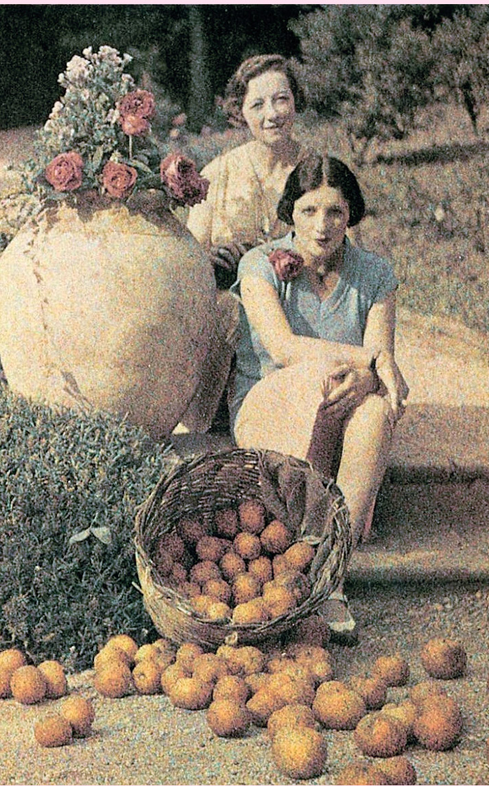 Inspiration Friday Image of Picture of Two Women with oranges by French photographer and painter Jacques Henri Lartigue