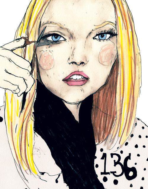 model gemma ward in artist Danny Roberts Character Sketchbook 1136 volume 2 drawing