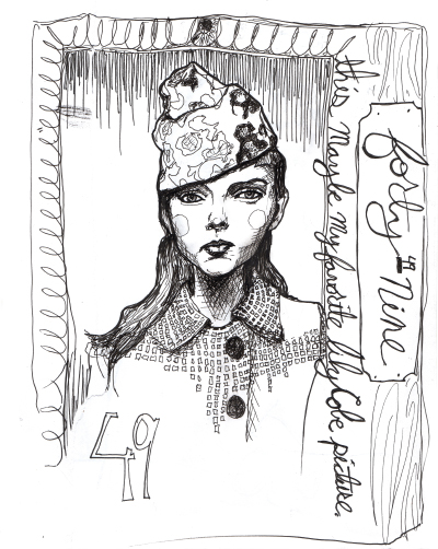 Excerpts for Danny Roberts' Lily Cole and Gemma Ward character sketch book