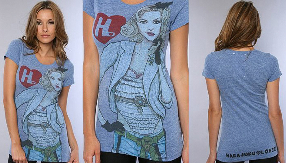 Picture of Gwen Stanfani of the Harajuku Lovers Shirts