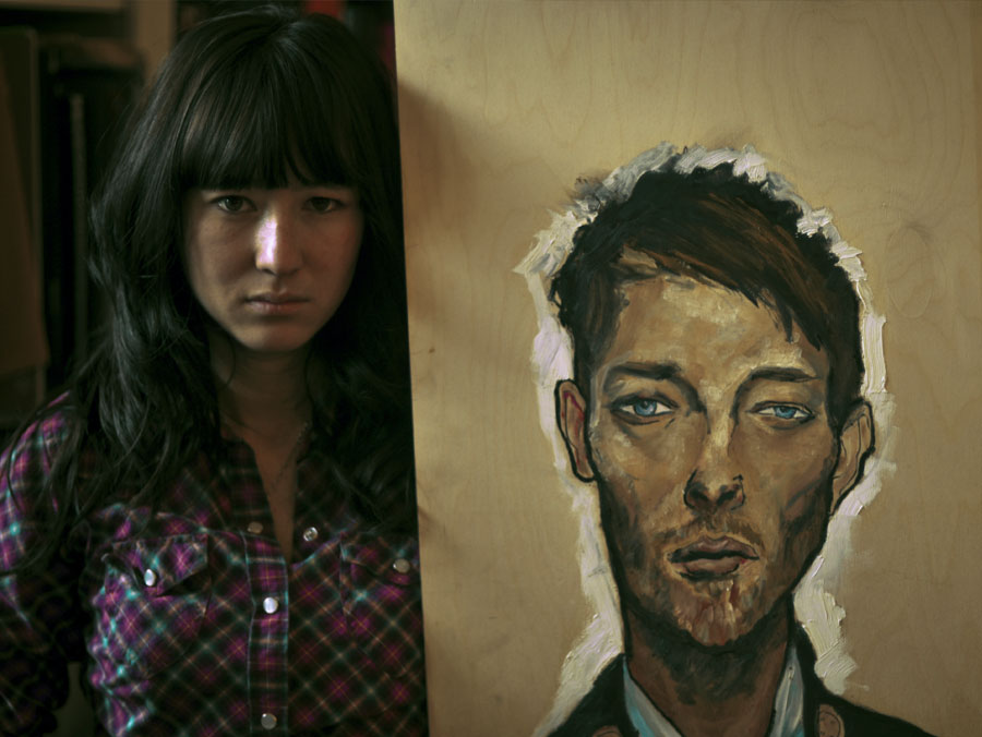Alice Baxley and the Thom Yorke Painting