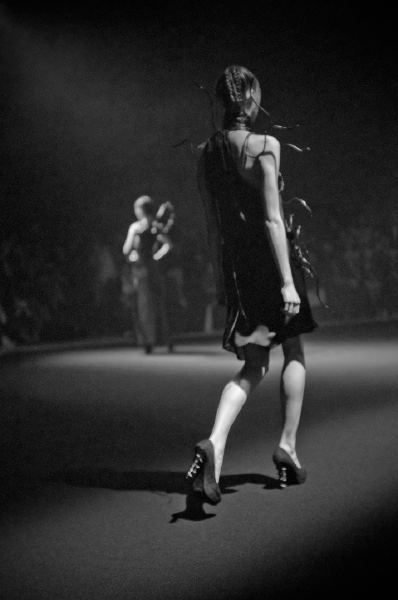 Picture by Fashion Photographer Danny Roberts of a model in a Medusa dress from the Christian Dada Spring 2012 show during Tokyo Fashion Week