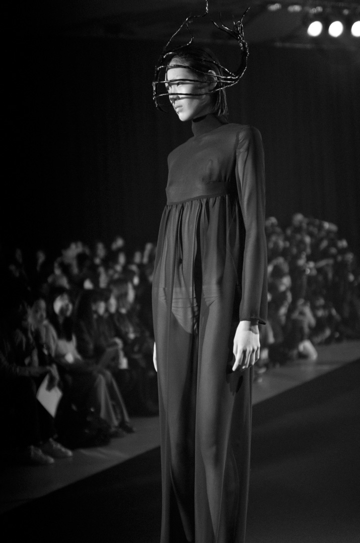 Picture by Fashion Photographer Danny Roberts of a model from the Christian Dada Spring 2012 show during Tokyo Fashion Week