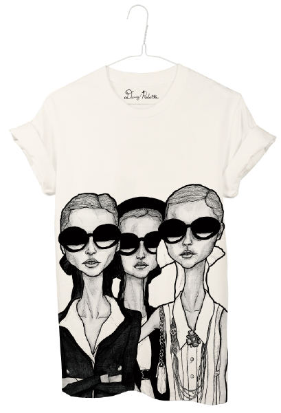 Artist danny roberts girls in glasses borders and frontiers tee shirts