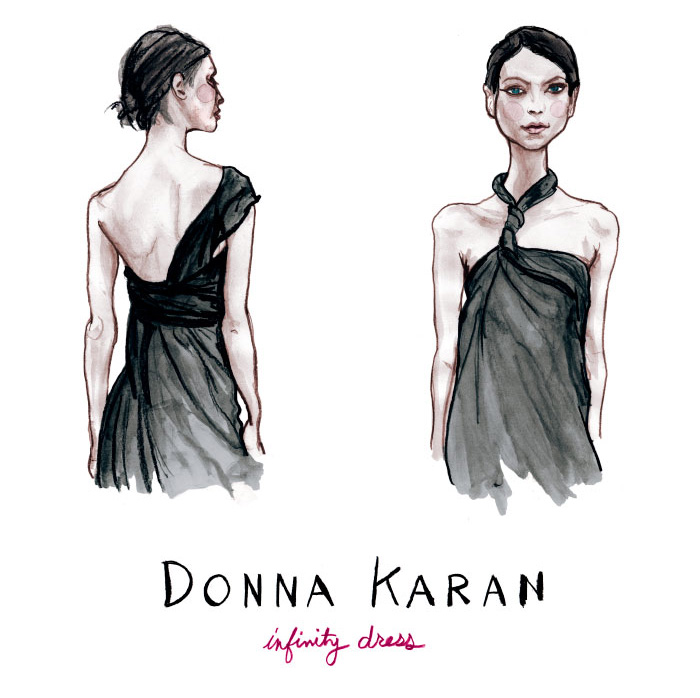 Danny Roberts Sketches of Donna Karan s Infinity Dress