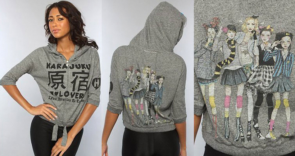 Danny Roberts Collaboration SweatShirt with Gwen Stefanis company harajuku Lovers