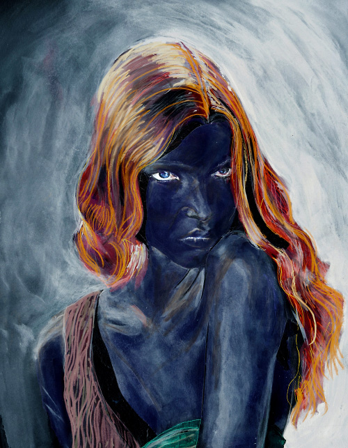 Mona Johannesson in Danny Roberts Painting from Numbero