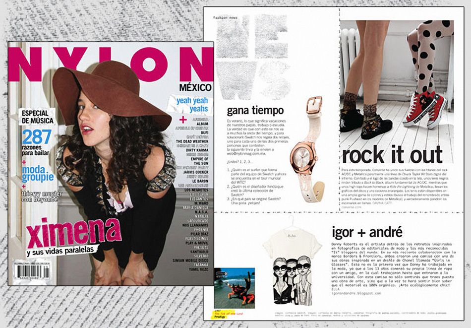 Nylon Mexico Feature of the Girls in Glasses Shirt
