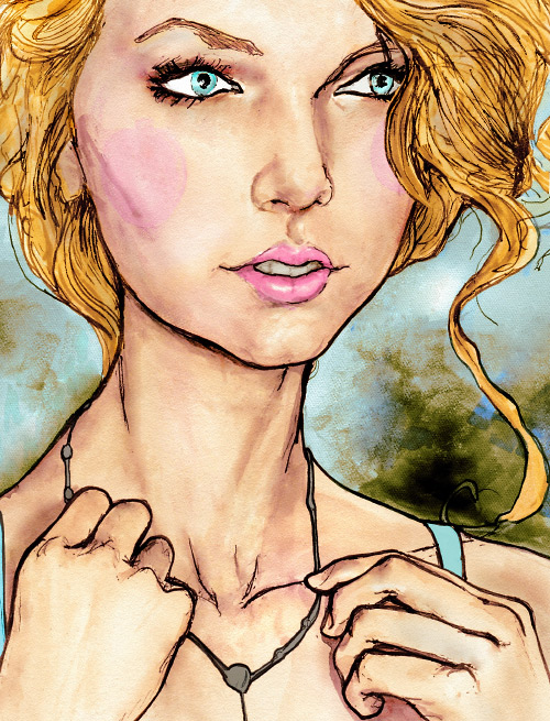 Danny Roberts Portrait of Taylor swift.