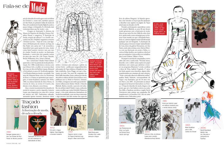 Vogue Brazil Article on the history of Fashion Illustration