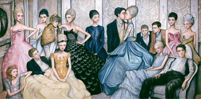 Fashion Artist Danny Roberts commissioned Tiffany and Company Mural