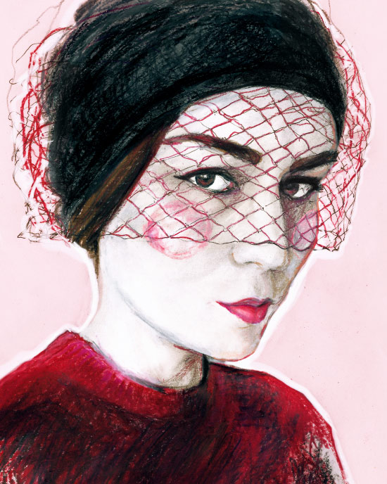 Fashion Illustrator Artist Danny Roberts painted portrait of Andy Torres StyleScrapbook blogger portrait