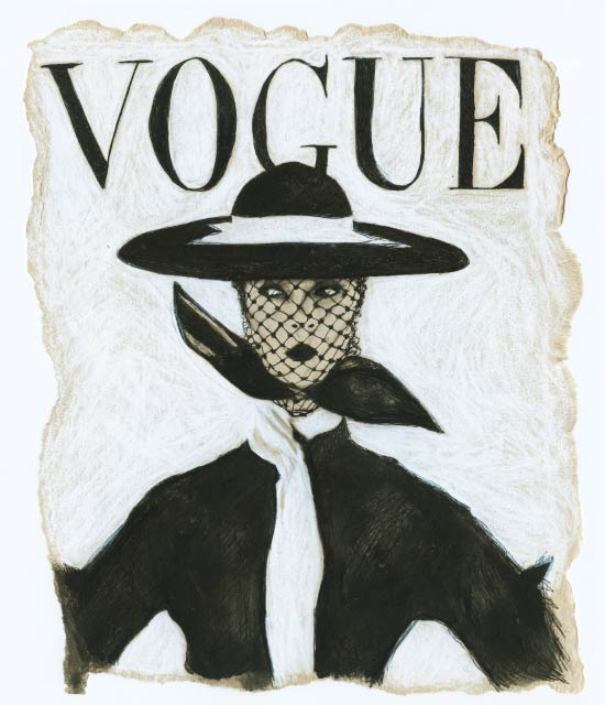 Artist Danny Roberts Reinterpreted June 1950 Vogue cover of Jean Patchett by Irving Penn